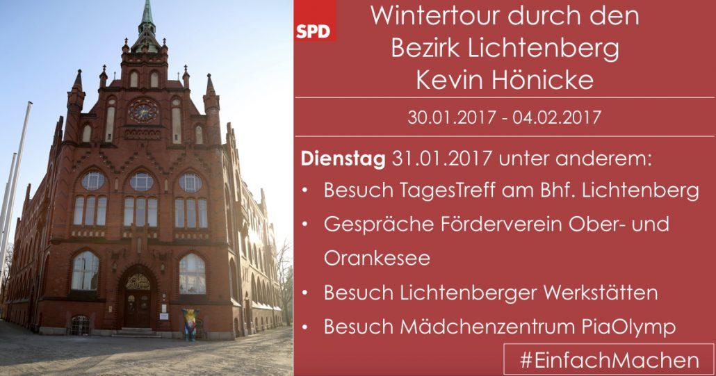 Wintertour Dienstag-Programm